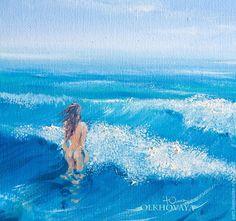 Olkhovaya Yuliya картины, рисунки, искусство, купить картину, обнаженные, девушка , женщины sun, pictures, art, picturesgirls, painting    summer, beautiful girls nude tender followme nature drawing creative sea ocean