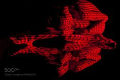 The  body of woman with red pattern and its reflection by vova130555