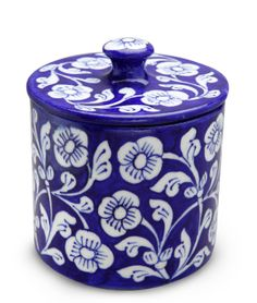Blue Aster Storage Jar