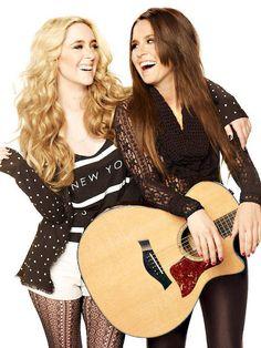 Twin popstars Megan and Liz