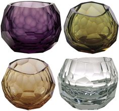 Hand blown whisky tumblers... I want these, but not for whiskey. Whiskey makes me pukey.