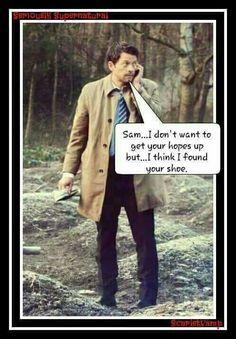 10x14 - Castiel found Sam's shoe! - XD