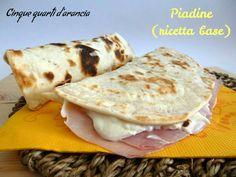 Piadine con esubero di pasta madre (ricetta base)