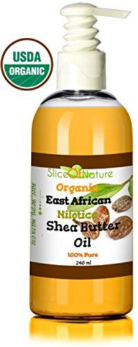 Slice of Nature Organic Shea Butter Oil - Shea Oil Nilotica Rare East African Shea Butter - Pure Cold pressed - Natural Shea Butter Lotion, Shea Butter for Hair, Face, Body USDA Certified 8 oz - http://essential-organic.com/slice-of-nature-organic-shea-butter-oil-shea-oil-nilotica-rare-east-african-shea-butter-pure-cold-pressed-natural-shea-butter-lotion-shea-butter-for-hair-face-body-usda-certified-8-oz/