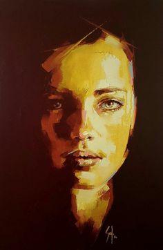 Handmade Oil Painting On Canvas Abstract Painting Abstract Artists 201 – radishral Acrylic Portrait Painting, Abstract Portrait, Abstract Oil, Abstract Canvas, Oil Painting On Canvas, Painting & Drawing, L'art Du Portrait, Arte Pop, Face Art