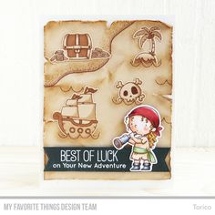 Handmade card from Torico featuring Birdie Brown Party Like a Pirate stamp set and Die-namics #mftstamps