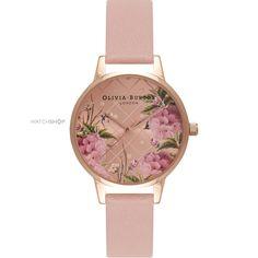 Ladies Olivia Burton Enchanted Garden Floral Watch OB15EG43