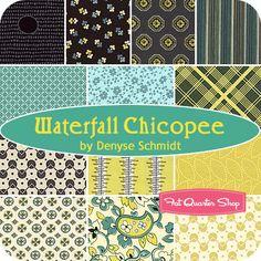 Waterfall Chicopee Fat Quarter Bundle Denyse Schmidt for Free Spirit Fabrics - Fat Quarter Shop