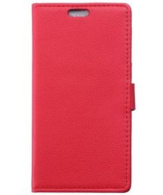 Sony-Xperia-Z5-Litchi-Skin-Wallet-Cover-Rood