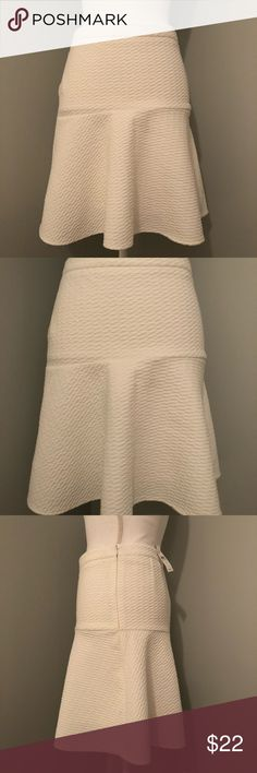 LOFT white circle skirt, NWT!! Perfect for spring, can dress this up or down! Brand new with tags, LOFT white skater skirt, color is a creamy white. XS. LOFT Skirts Circle & Skater