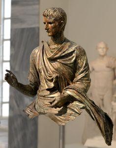 Ancient Rome - Equestrian statue of Octavian Augustus.