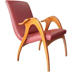 Italian 50s Armchair By Malatesta & Masson