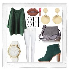 """""""Casual Greens"""" by sweeteve2016 on Polyvore featuring Polaroid, Ted Baker, Accessorize, Tommy Hilfiger, Rebecca Minkoff, Lime Crime and Oui"""
