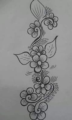 Sewing Embroidery Designs At Home Is Real Fun. Floral Embroidery Patterns, Hand Embroidery Designs, Beaded Embroidery, Beading Patterns, Flower Patterns, Embroidery Stitches, Machine Embroidery, Rangoli Border Designs, Bordado Floral