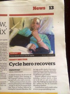 Argus article on Florian's recovery! Thank you for the support! #Unowgaja2014
