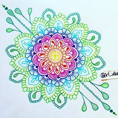 Hey, Im ElenaNew post twice a day! Mandalas from other artists and myself :)Enjoy your stay and get inspired! Mandala Doodle, Mandala Sketch, Mandala Drawing, Zen Doodle, Doodle Art, Mandala Artwork, Design Mandala, Mandala Pattern, Zentangle Patterns