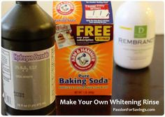 Find out how easy it is to make your own Whitening Rinse!