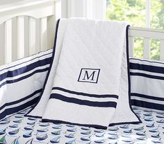 Preppy Boats & Harper Nursery Bedding #PotteryBarnKids