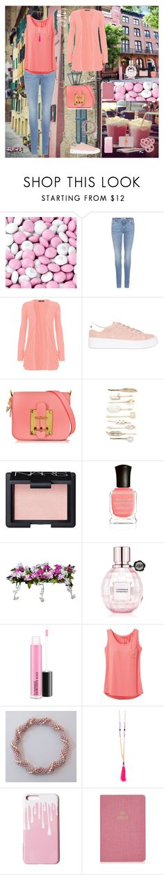"""Walking With Friends In The City⛲️"" by oksana-kolesnyk ❤ liked on Polyvore featuring Givenchy, WearAll, No Name, Sophie Hulme, Red Camel, NARS Cosmetics, Deborah Lippmann, Improvements, Viktor & Rolf and prAna"