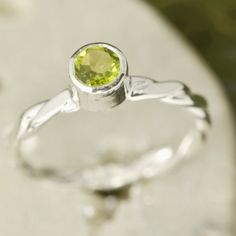 August Birthstone Ring  Gemstone Ring  by TheJewelryGirlsPlace, $55.95 #peridot #ring #silver #etsy