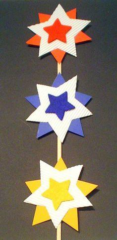 Dekorative Sterne - Weihnachten-basteln - Meine Enkel und ich