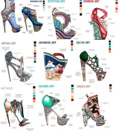 Learn Art History Through 10 Stunning Pairs of High Fashion Heels by Designer Nick Adelman