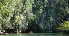 Phillippines - this park features a spectacular limestone karst landscape with an underground river. One of the river's distinguishing features is that it emerges directly into the sea, and its lower portion is subject to tidal . Puerto Princesa Subterranean River, Forest Ecosystem, Tourism Management, Cocos Island, Mangrove Forest, Palawan, Mountain Landscape, List