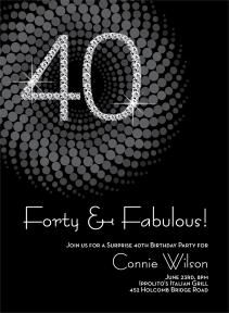 Diamond Numbers Milestone Birthday Invitations By Noteworthy Collections