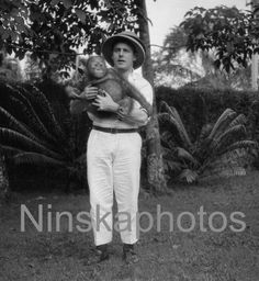 Mr Mudford and Bill the Orangutan in Sarawak by Ninskaphotos