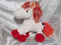 Peach Vanilla WildBumPony  white HORSE by TALLhappyCOLORS on Etsy, €100.00