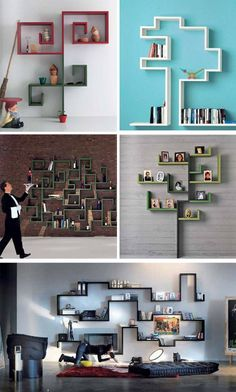 crazy weird shelves