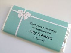 Tiffany Design Personalised Chocolate BAR Wedding Engagment Bonbonniere Favour | eBay
