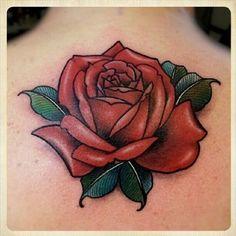 Hergestellt von Stella Luo Tätowierern in Toronto, Kanada - rose tattoos Mom Tattoos, Hand Tattoos, Tatoos, Tattoo Mutter, Rosen Tattoos, Realistic Rose, Tattoo Hals, Tatuagem Old School, Painting Tattoo