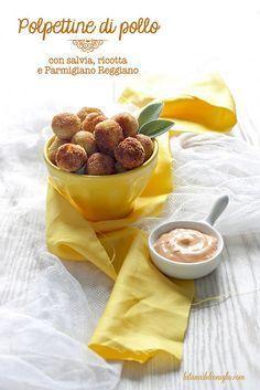 Boulettes de poulet, à la sauge, ricotta et parmesan - Polpettine di pollo con salvia, ricotta e Parmigiano Reggiano