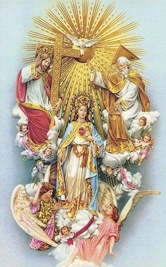 Queen of Heaven Religious Pictures, Jesus Pictures, Religious Icons, Religious Art, Image Jesus, Jesus Christ Images, Blessed Mother Mary, Blessed Virgin Mary, Catholic Art