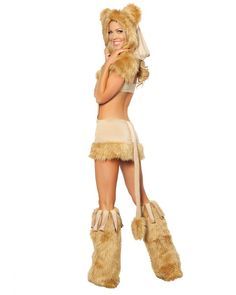 Sexy Courageous Lioness Costume for Women. Be the courageous one when you walk into the party with this gorgeous and perfectly sexy lioness costume. Sexy Halloween Costumes, Halloween Kostüm, Adult Costumes, Lion Costumes, Women Halloween, Group Costumes, Halloween Makeup, Lioness Costume, Lion King Costume