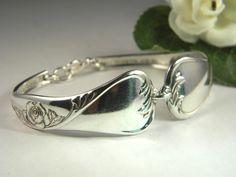 Remember spoon rings? Beautiful bracelet!