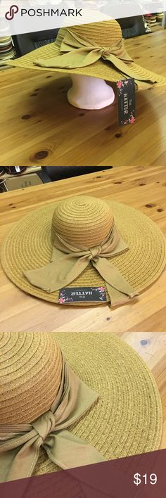 New floppy with big ribbon band Paper straw floppy hat. 5 inch brim.One size fits most women(head curcumference is about 57cm the hatter Accessories Hats
