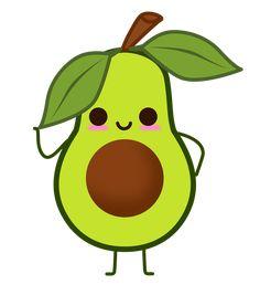 Free Image on Pixabay - Fruit, Avocado, Guacamole - Plotten - Cute Food Drawings, Cute Little Drawings, Cute Animal Drawings Kawaii, Cute Cartoon Drawings, Avocado Art, Cute Avocado, Avocado Guacamole, Griffonnages Kawaii, Desenhos Cartoon Network