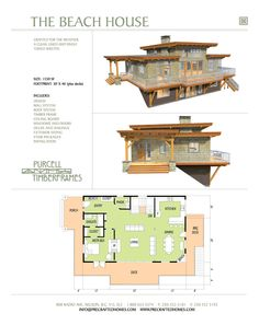 Purcell Timber Frames - Prefab Home Packages - The Beach House