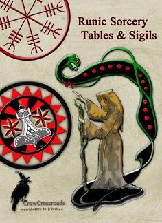 Rune Sorcery Digital Tables Book of Shadows Art by CrowCrossroads, $16.00