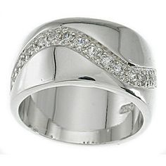 @Overstock.com - Sterling Silver Cubic Zirconia Pave Fashion Band - Round-cut cubic zirconia pave fashion bandSterling silver jewelryClick here for ring sizing guide http://www.overstock.com/Jewelry-Watches/Sterling-Silver-Cubic-Zirconia-Pave-Fashion-Band/7497684/product.html?CID=214117 $49.99