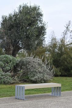 Public bench / contemporary / exotic wood / stainless steel DEACON by Gibillero design CITYSI srl
