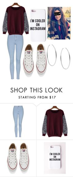 """""""Untitled #328"""" by lovealysah ❤ liked on Polyvore featuring Topshop, Converse, Missguided and Michael Kors"""