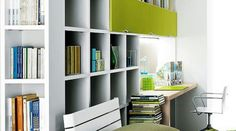 cubed storage 20 Home Office Designs for Small Spaces