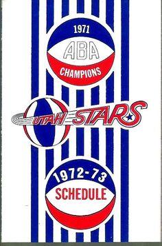 More old school schedule goodness: 1972-73 Utah Stars