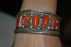 Stunning Old Pawn Navajo Coral Bracelet  by navajodreams on Etsy, $575.00