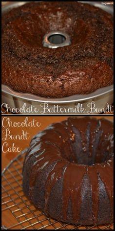 Chocolate Buttermilk Bundt Cake - Hugs and Cookies XOXO