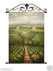 Tuscan Oil on canvas and rod