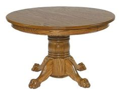 This Small Round Pedestal Table is perfect for your breakfast nook or kitchen. Shop DutchCrafters single pedestal tables today and have one custom made for you. Woodworking Bench For Sale, Woodworking Plans, Octagon Poker Table, Pedestal Dining Table, Dining Tables, Country Style Furniture, Amish Furniture, Table Sizes, Wood Construction